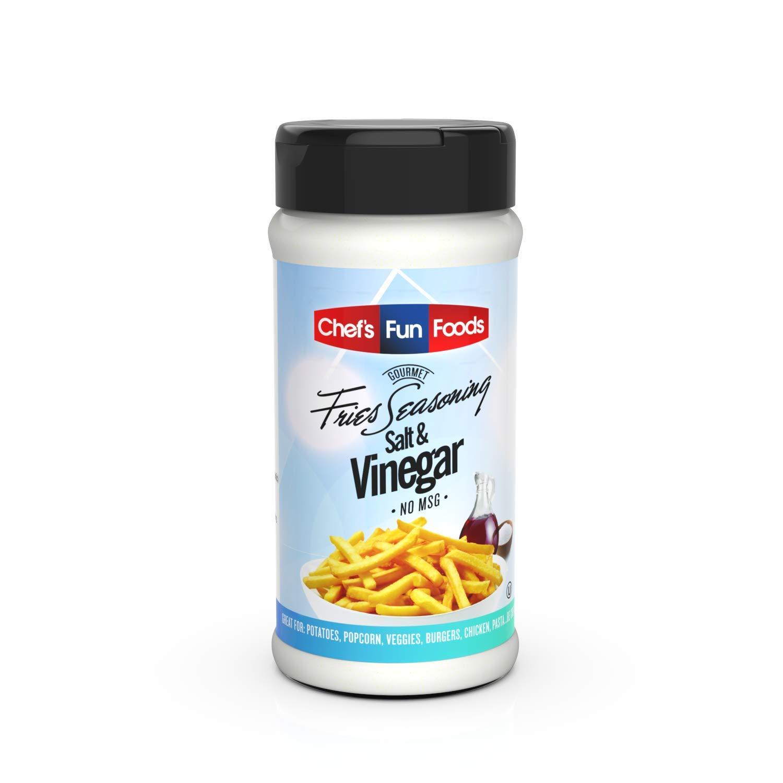 Gourmet Fries Seasonings Bottle, Salt and Vinegar, 12 Ounce