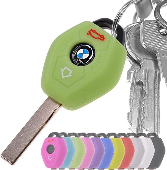 Key Soft Case Cover Funda para Cubiertas de Coche en Silicona Azul Fluorescente para BMW E46 E83 E85 E85 E86 E39 E61 E60 E53
