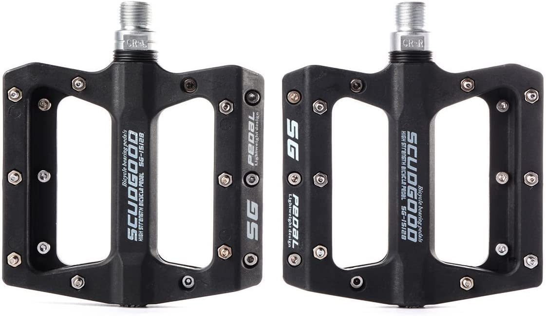 """Bicycle Pedals Road Mountain Bike Pedals Flat Wide Platform Sealed Bearing 9//16/"""""""