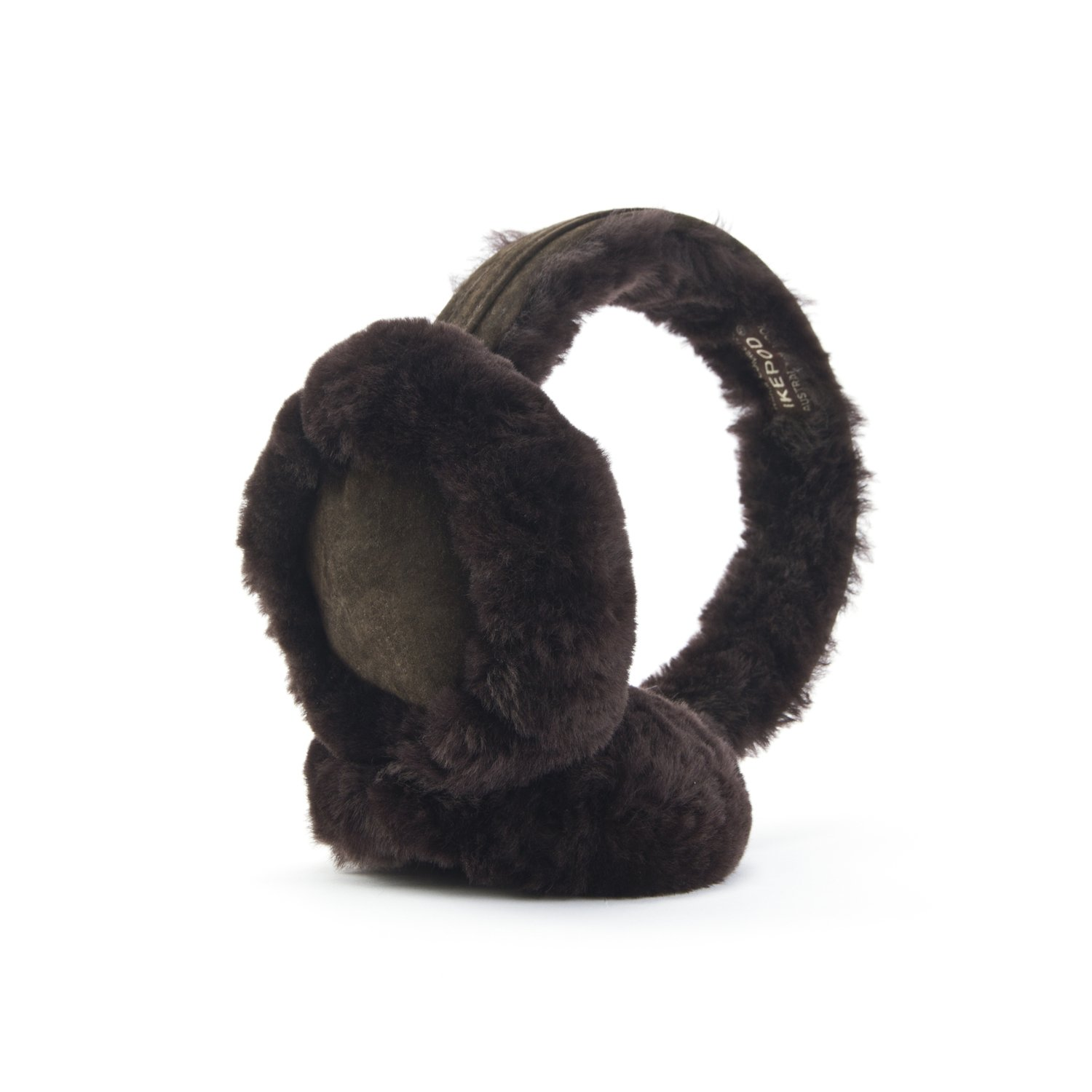 Classic Australian sheepskin Ear Warmer from Ikepod – for men and women (Chocolate)