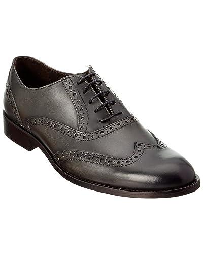 Bruno Magli Men's Alvar Dark Grey Oxford 43 (US Men's 10) ...