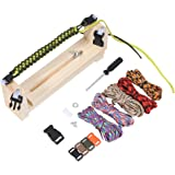 Wooden Jig Bracelet Maker Parachute Cord Wristband Maker DIY Craft Tool Kit