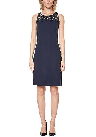 c1f65baa5a9c Oliver BLACK LABEL Damen Crêpe-Kleid mit Spitze  s.Oliver BLACK LABEL   Amazon.de  Bekleidung