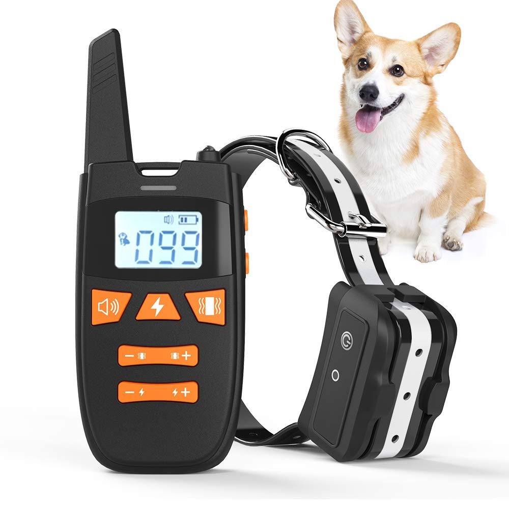 Haliluya Dog Training Collar – Rechargeable Dog Shock Collar with Remote, 3 Training Modes, Beep, Vibration and Shock, 2000Ft Remote Range, IPX7 Waterproof Bark Collar for Small, Medium, Large Dogs