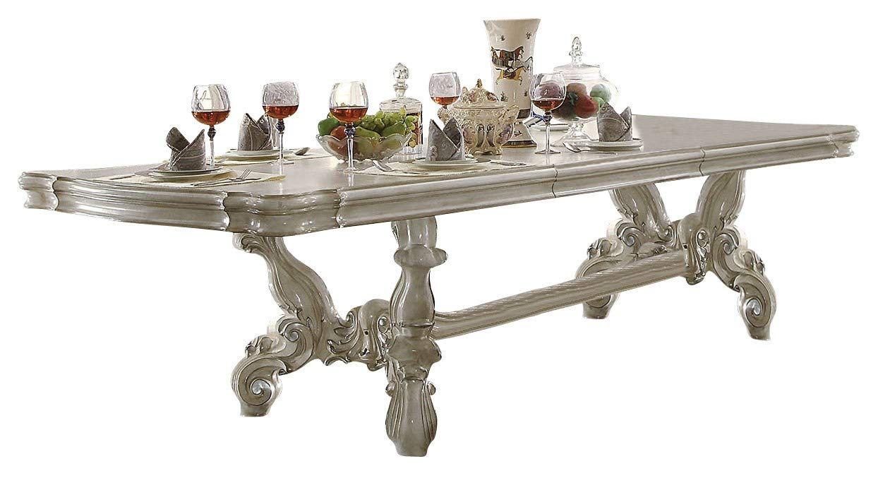 Acme Bone Table Versailles White Dining oshdCxBtQr