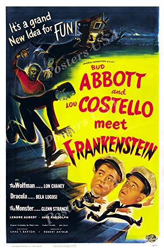 Posters USA Bud Abbott and Lou Costello Meet Frankenstein GLOSSY FINISH Movie Poster - FIL867 (24