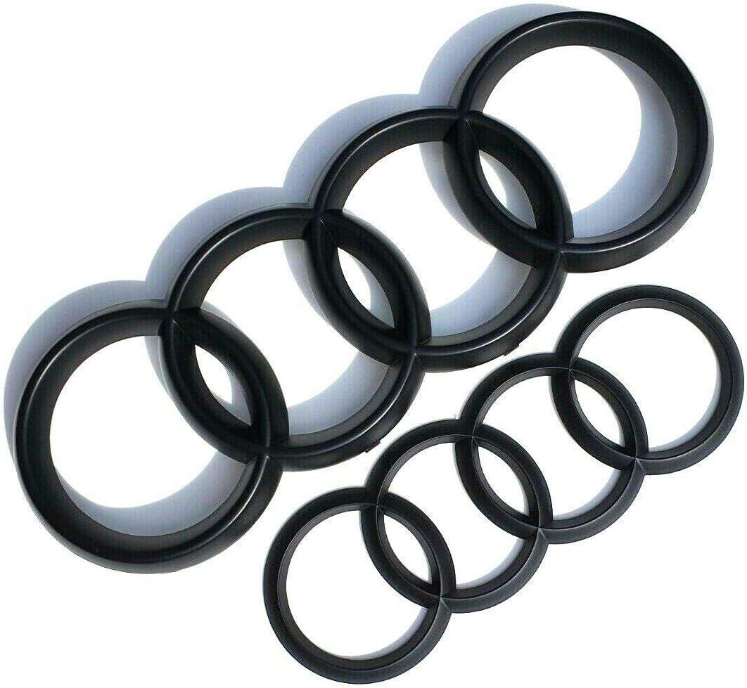 Embl/ème noir mat avec anneaux avant et arri/ère 250 x 85 mm 178 x 57 mm convient pour TT MK2 et S-LINE