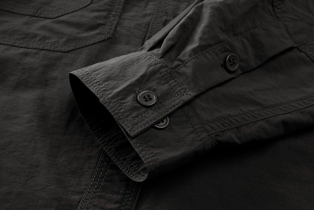 TACVASEN Shirt /à Manches Longues Outdoor schnelltroc knend Anti-UV /à Manches Longues pour Homme