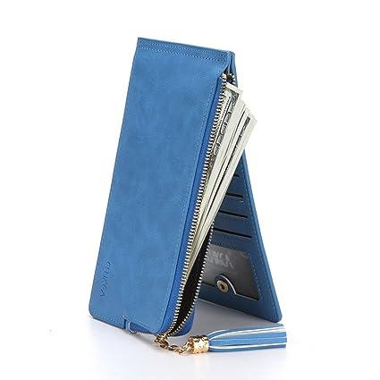 Xiaoqin Lady Leather Credit Card Holde Wallet Travel Mini Carteras/Titular / Bolso Tarjetero de