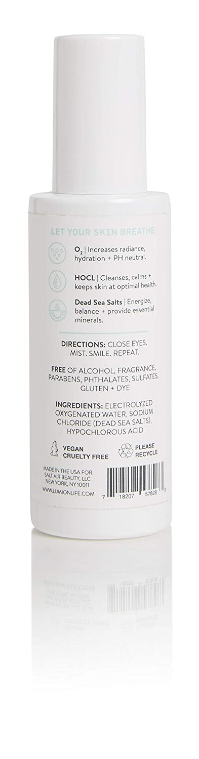 LUMIONskin Oxygen Mist with HOCL, Cleansing, Hydrating, Non-Irritating  Every Day Mist, Ideal for