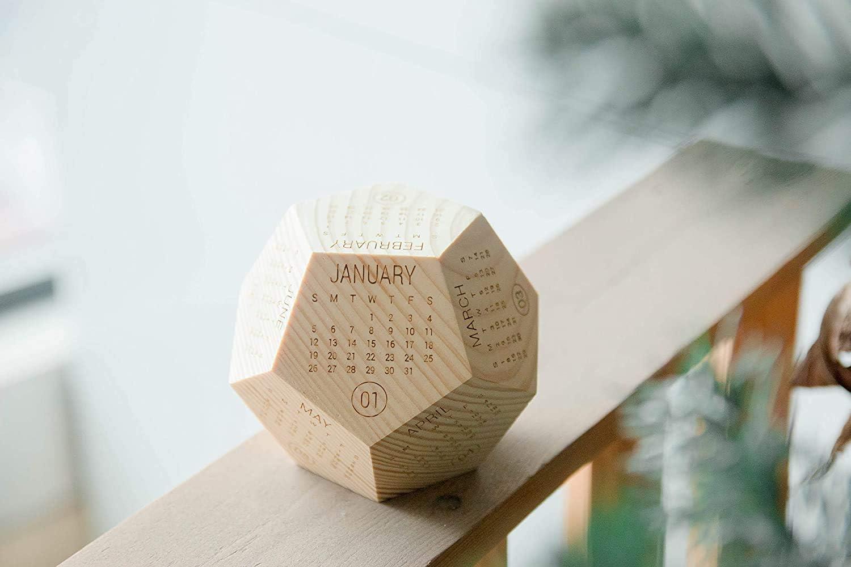 Wooden Ireland Box Calendar 2021, Printable Calendar, New Year Employee Gift, Desk Decor, Calendar Planer, Calendar Gift, Office Calendar, Best Creative Gift Idea, Box Calendar