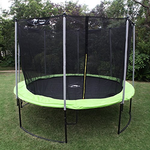 Kangaroo-Hoppers-12-Feet-Round-Trampoline-with-Safety-Net-Enclosure-and-Spring-Pad