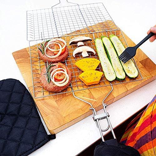 Lorenory Antiadhésif Fish BBQ BBQ Portable Clip Griller Panier Résistant À La Chaleur Barbecue Poisson Clip Outils Net Camping en Plein Air Grilles de Cuisson Accessoires