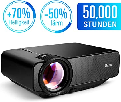 RAGU Mini proyector portátil multimedia Full HD con 70% de brillo ...