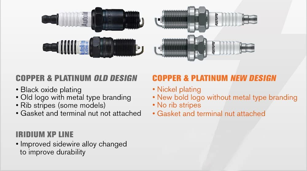 Autolite 5245-4PK Copper Resistor Spark Plug Pack of 4
