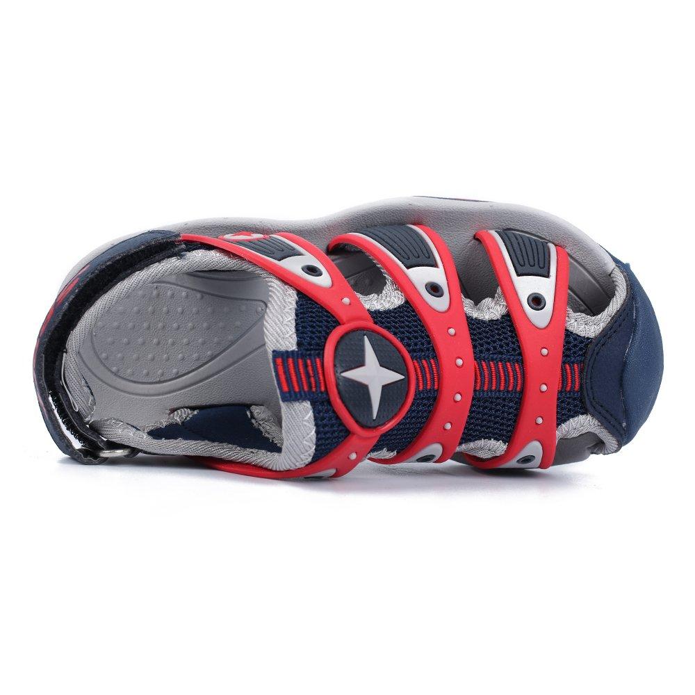 HOBIBEAR Boys\' Girls\' Closed-Toe Sport Water Sandals AU3326(13,Blue)