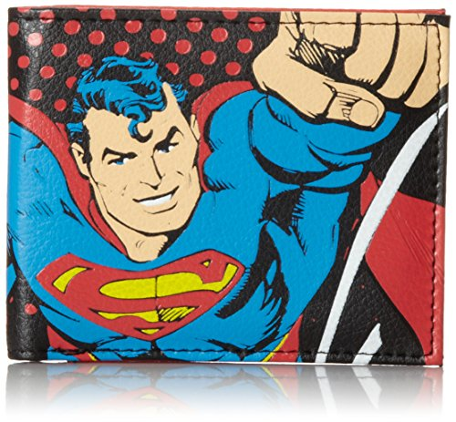 Superman Men's Bifold Wallet, Black, One - Superman Wallet For Men