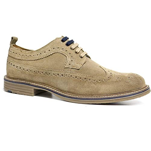 f9d9fcfb402fe MENS REAL LEATHER SUEDE LACE UP OFFICE SMART VINTAGE BROGUE LONDON ...