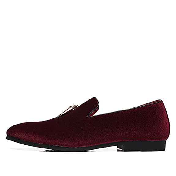 Amazon.com | Orcan Bluce Mens Large Size Shoes Casual Sickle Suede Pointed Toe Loafers 2018 Slip on | Loafers & Slip-Ons