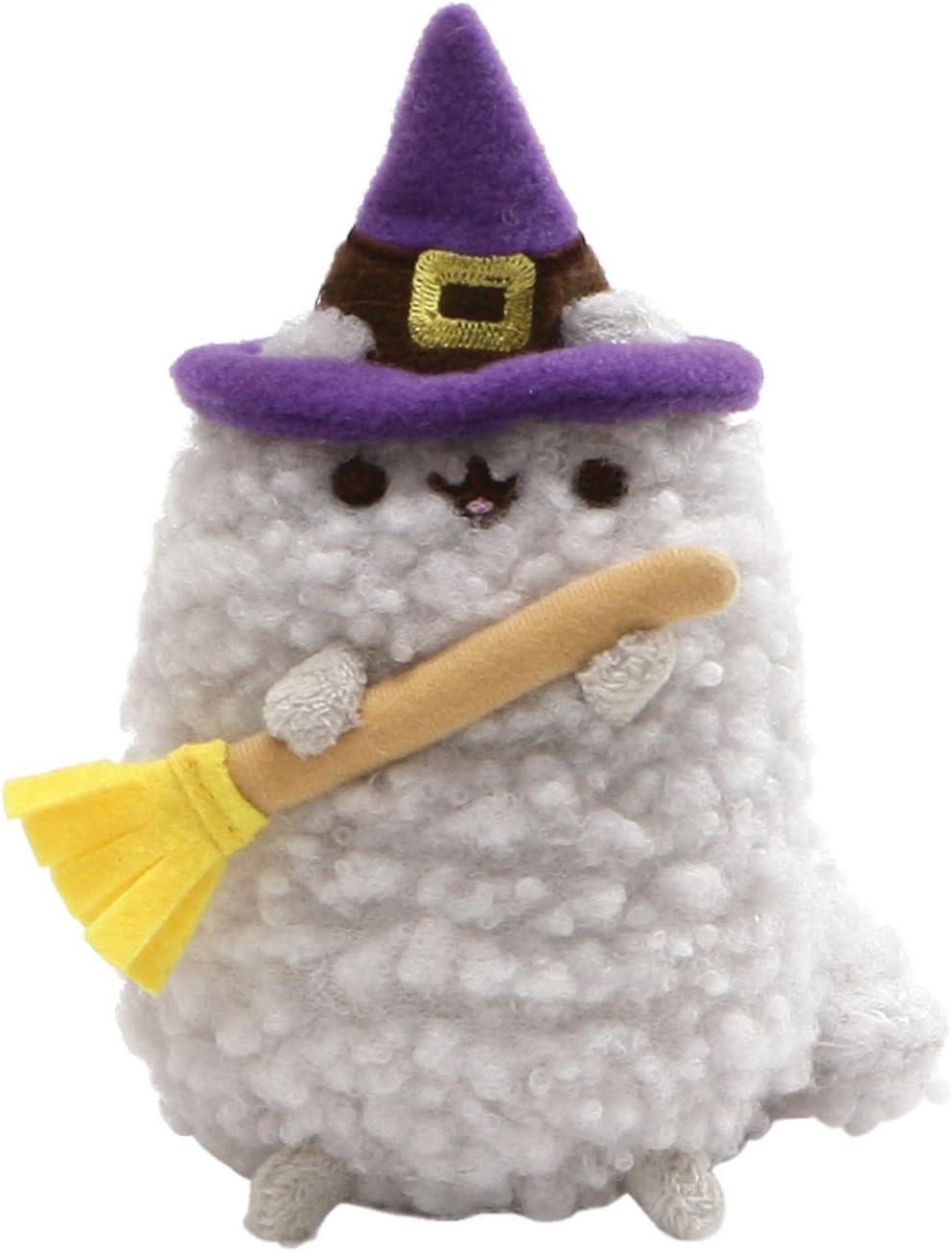 "GUND Pusheen Stormy Witch Halloween Plush Stuffed Cat, Gray, 4"""