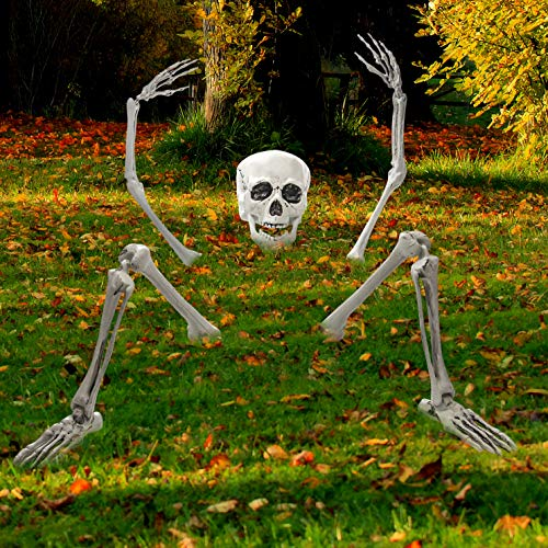 Creepy Graveyard Halloween Décor Ground Breaker Skeleton for