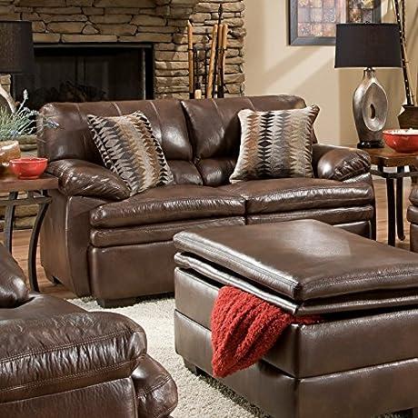 Simmons Upholstery Editor Bonded Leather Lovseat
