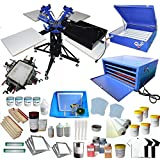 Full 3-4 Screen Printing KIt With Flash Dryer Complete Material Supply