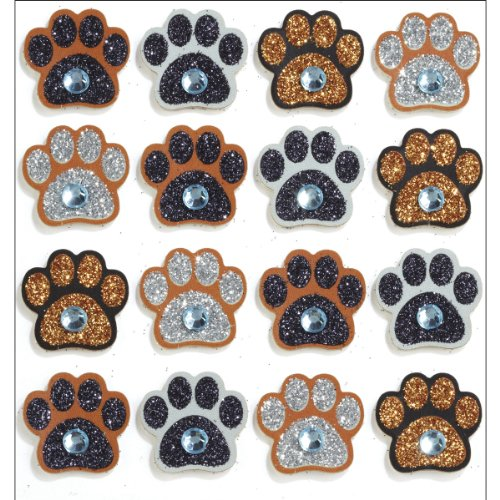 Jolee's Boutique Repeats Dimensional Stickers, Paw Prints