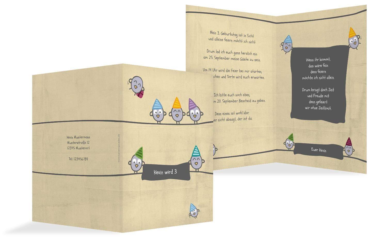 Einladung zum Geburtstag Vogelfest, 10 Karten, HellgrauLila B07L19B2K4 | Moderner Modus  | Mangelware  | Neuartiges Design