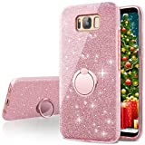 Galaxy S8 Plus Case,Silverback Girls Bling Glitter Sparkle Cute Phone Case With 360 Rotating Ring Stand, Soft TPU Outer Cover + Hard PC Inner Shell Skin for Samsung Galaxy S8 Plus -Rose Gold Review