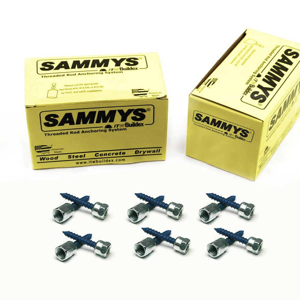 Everflow Sammys 8058957-50 CST 200 1/4 Inch Screw Vertically Threaded Rod Anchor Designed for Concrete Structure, Steel, Zinc Finish, Corrosion Resistance, 5/16 x 1-3/4 Inch Screw Length (Pack of 50)