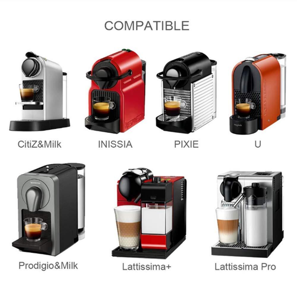 Rusaly 4PCs Cápsulas Filtros de Café para Cafetera Nespresso ...