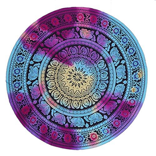 VERNASSA Round Tapestry Round Beach Throw Tapestry Tablecloth Wall Decor Beach Towel Round Yoga Mat Beach Shawl