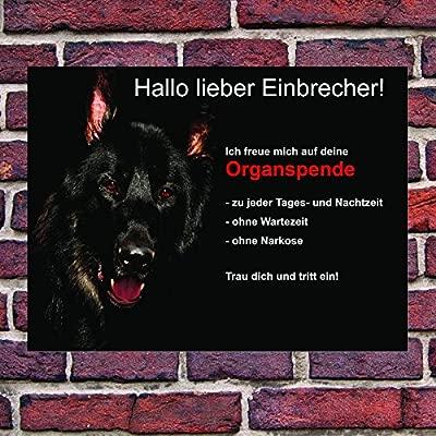 Perros perro pastor Placa de señal Alerta divertido Atención ...