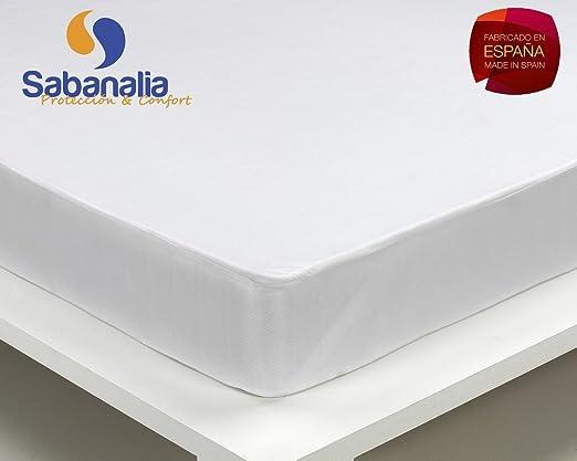 Cama 80-80 x 200 31 Bajera algod/ón Impermeable y Transpirable SABANALIA Disponible en Varias Medidas