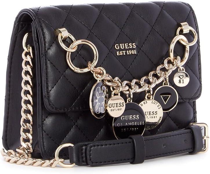 eec3e842683 Guess Victoria Black Crossbody Tas HWVG71-07780-BLA: Amazon.co.uk ...