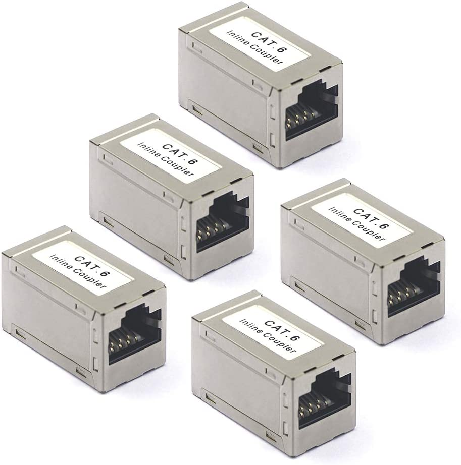 Vce 5 Stück Cat6 Ethernet Adapter Kupplung Patchkabel Elektronik