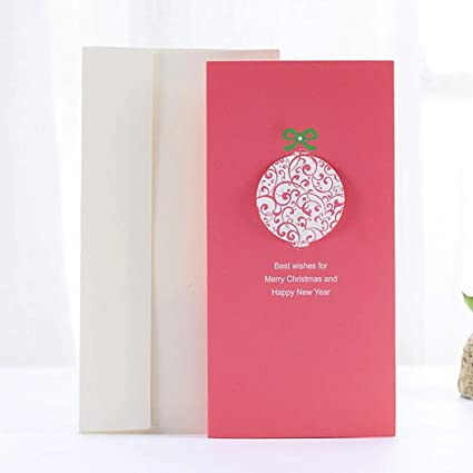 chitop santa claus christmas theme series card folding message card with envelope christmas new year blessing