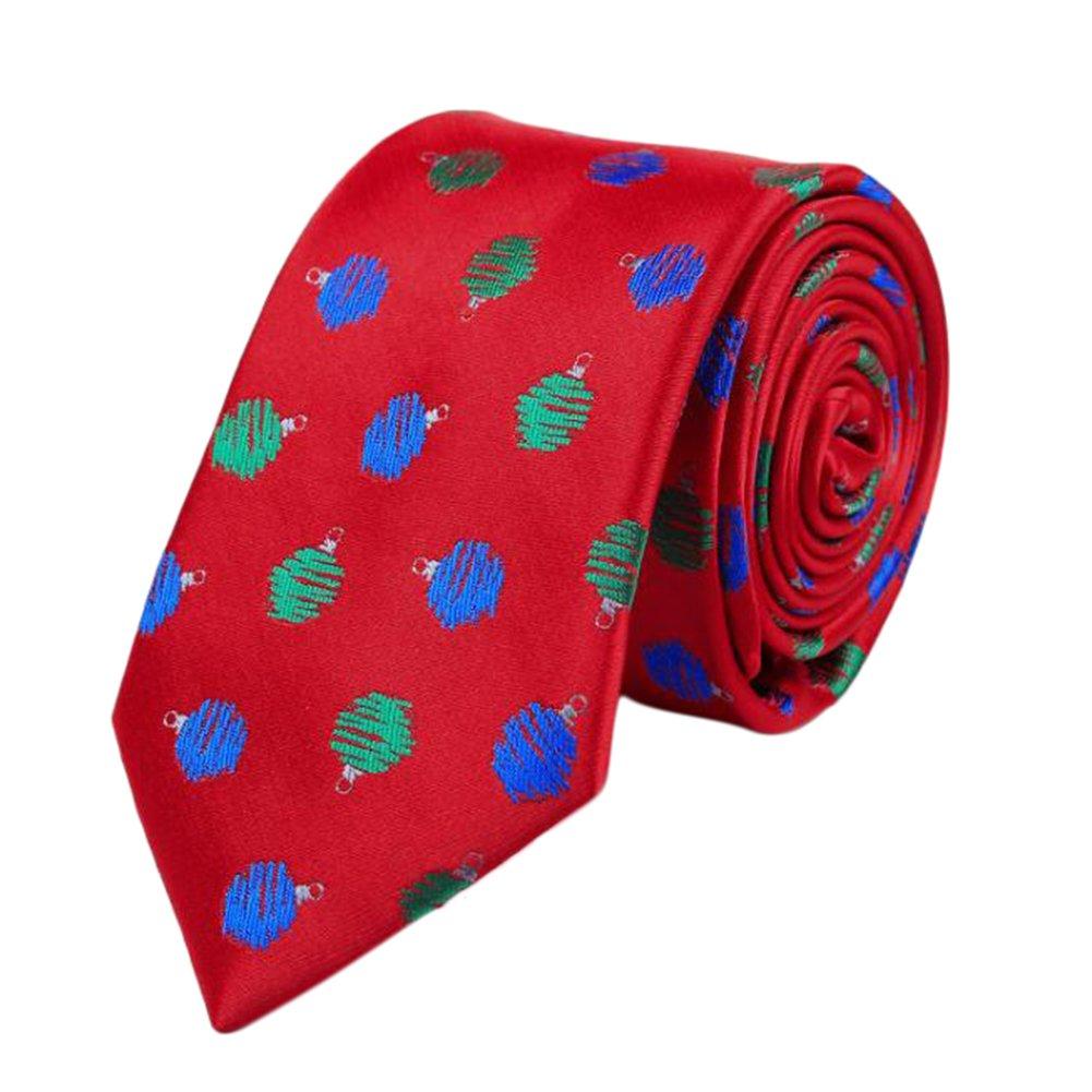 Leisial™ Mode Herren Krawatten Junge Schmale Krawatten Weihnachten Weihnachtskostüm Weihnachtsdekoration 145x3.8x7.5CM A 5833J116WT