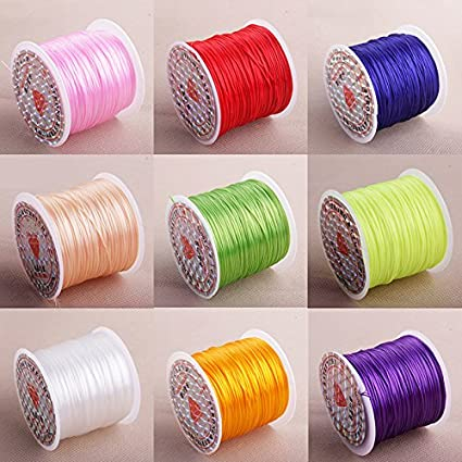 kentop 1 x /élastique bobines de cordon /élastique fil bijoux DIY perle bijoux bracelets bricolage 0,8 mm 50m x 0.8mm Violet