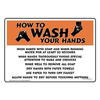 Amazon.com: compliancesigns How to Lávese las manos Cartel ...