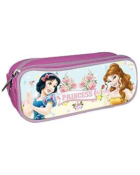 Disney Princesas Estuche portatodo con Doble Cremallera Bolsillo