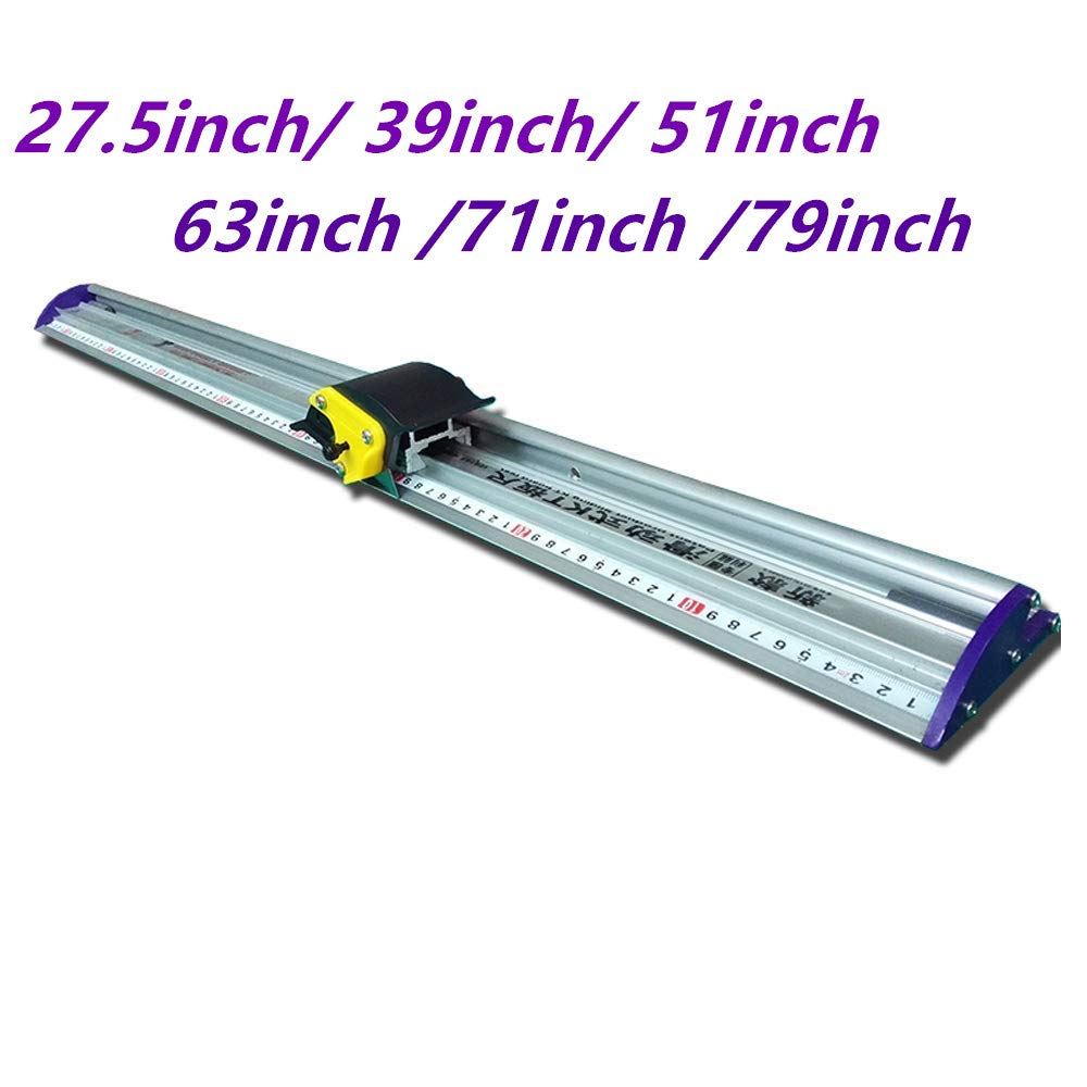 Manual Sliding KT Board Trimmer Cutting Ruler, Photo Paper Trimmer Ruler, Photo PVC PET Cutter with Ruler (39''=1000mm)