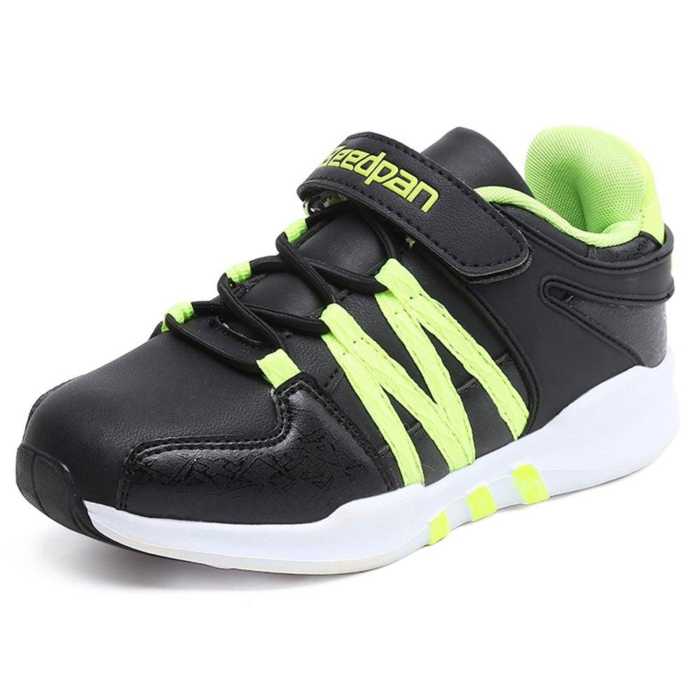 Kids Boys & Girls Sports Casual Trainers Flat Strap Light Weight Running Sneakers (Little Kid/Big Kid) by U-MAC
