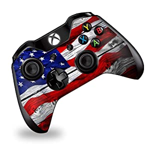 Skin Vinyl Decal Wrap for Xbox One | One S Controller | Skins Stickers Cover | American Flag on Wood