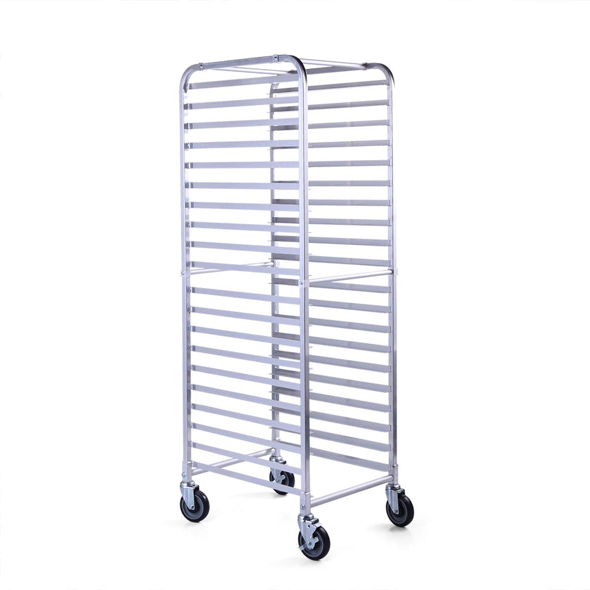 20 Tier Aluminum Bakery Rack Commercial Bun Sheet Pan Rolling Kitchen Trolley Storage by Thegreatshopman