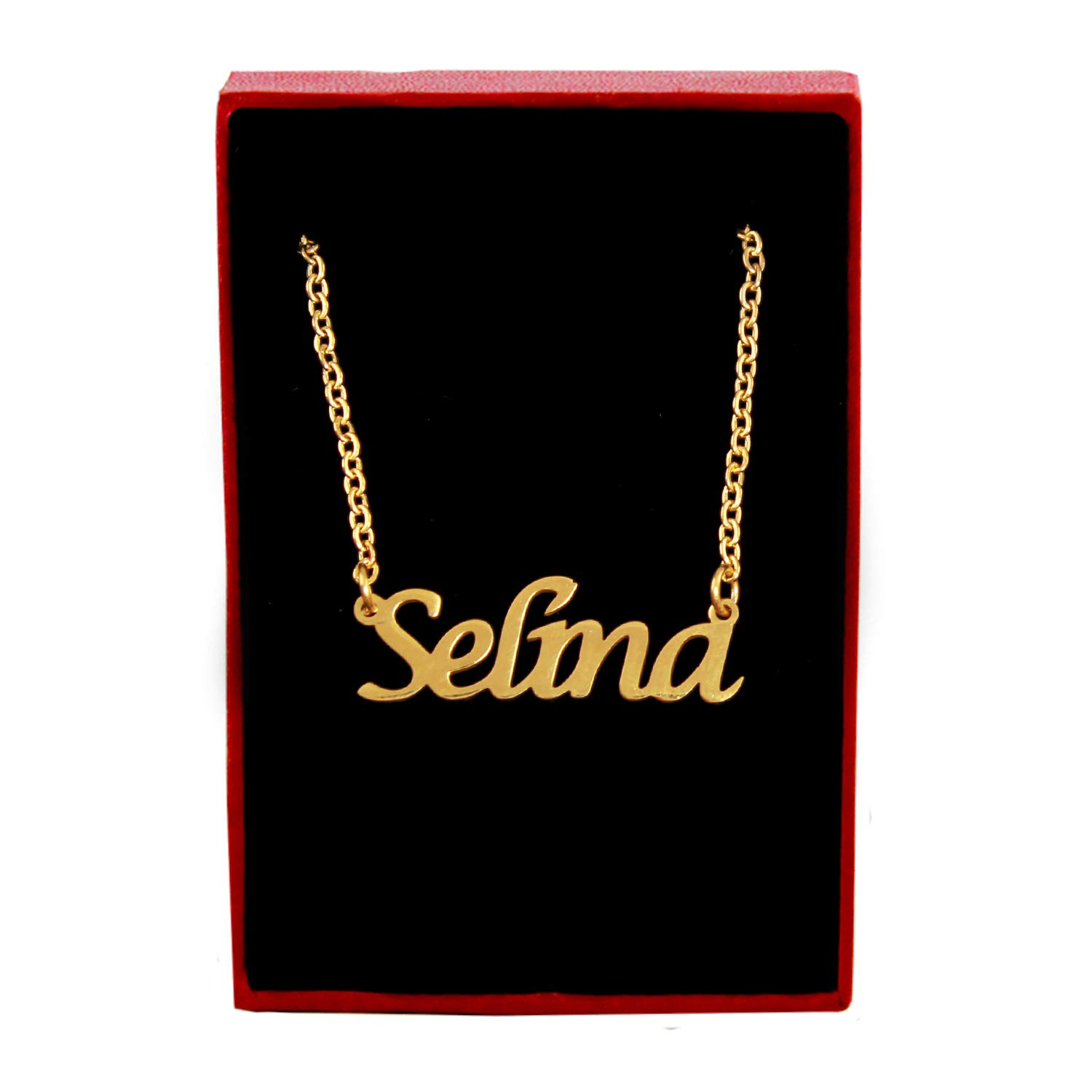 Kigu Selina Custom Name Necklace Personalized 18ct Gold Plated