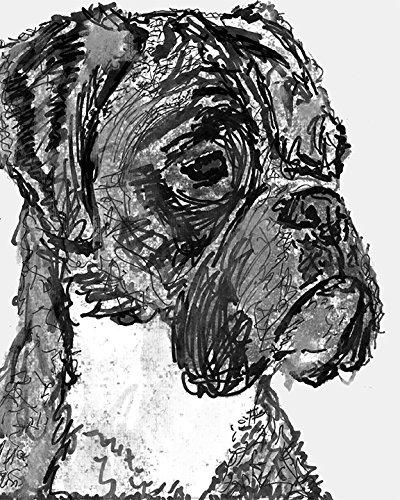 Amazon.com: Modern Boxer Dog Art, Minimalist Chic Boxer Dog Gift ...