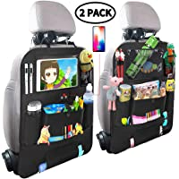 """$21 » Car Backseat Organizer for Kids,Car Organizer Kick Mats Seat Back Protectors with Clear 10"""" Tablet…"""