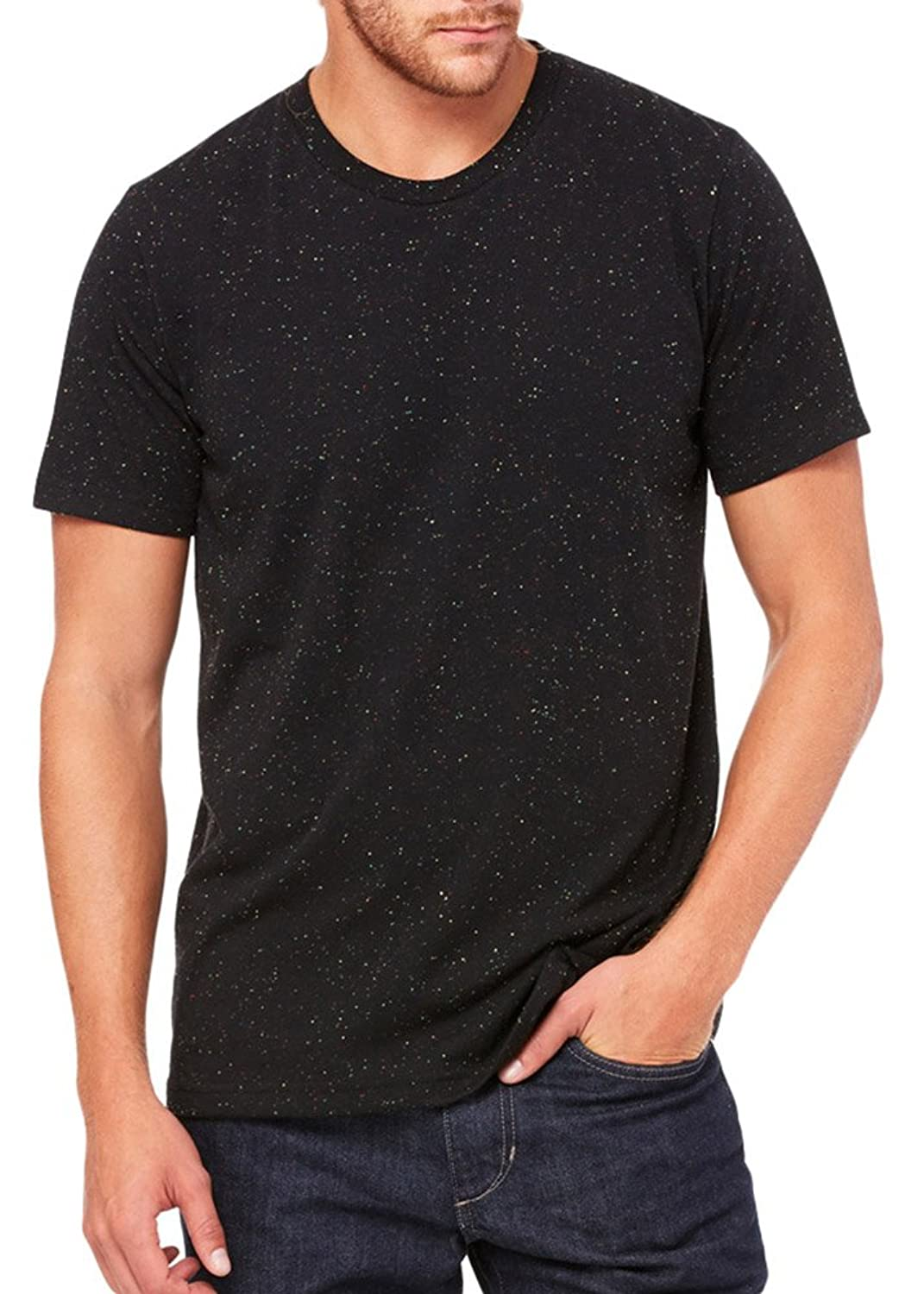 Bella + Canvas Unisex Poly-Cotton Short-Sleeve T-Shirt (3650) BLACK SPECKLED